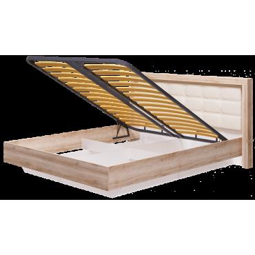 Кровать двуспальная 1600 мм с подъемным механизмом Люмен №12